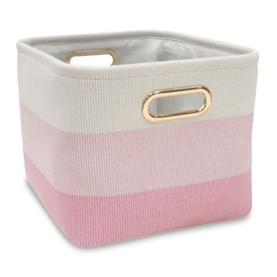 Lambs U0026 Ivy® Ombre Storage Basket In Pink/Gold