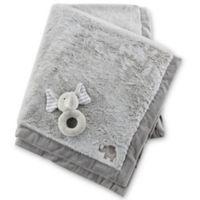 Baby Aspen Little Peanut Elephant Blanket and Rattle Set