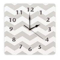 Trend Lab® Chevron Wall Clock in Dove Grey