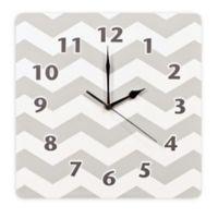 Trend Lab® Chevron Wall Clock in Dove Grey
