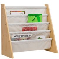 Wildkin Kid's Kai Sling Book Shelf in Natural/Tan