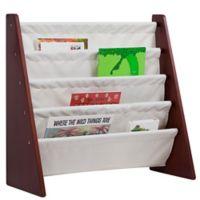 Wildkin Kid's Kai Sling Bookshelf in Cherry/Tan