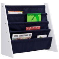 Wildkin Kid's Kai Sling Bookshelf in White/Blue