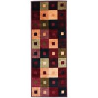 J&M Home Fashions 22-Inch x 60-Inch Squares Woven Runner