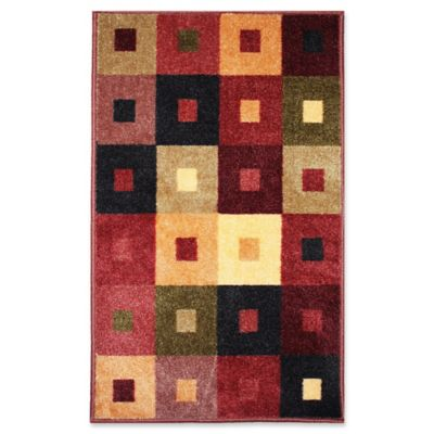 ju0026m home fashions 30inch x 50inch squares woven accent rug - Washable Rugs