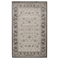 Rugs America Riviera Traditional Trellis 2-Foot 7-Inch x 4-Foot 11-Inch Accent Rug in Black