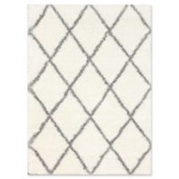 Plush Diamond Shag 6-Foot 7-Inch x 9-Foot Area Rug in Grey