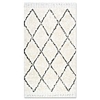 nuLOOM Moroccan Hand Knotted Fez Shag 4-Foot x 6-Foot Area Rug in Natural