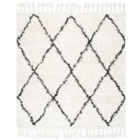 nuLOOM Moroccan Hand Knotted Fez Shag 6-Foot Area Rug in Natural
