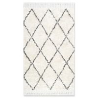 Moroccan Hand Knotted Fez Shag 8-Foot x 10-Foot Area Rug in Natural