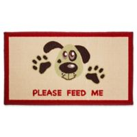 J&M Home Fashions 18-Inch x 30-Inch Please Feed Me Pet Rug