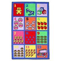 J&M Home Fashions 40-Inch x 60-Inch Numbers Kids Play Rug