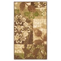 Modern Living Leaves 1-Foot 6-Inch x 2-Foot 6-Inch Accent Rug in Green/Brown