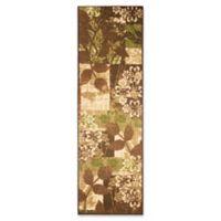 Modern Living Leaves 1-Foot 8-Inch x 5-Foot Runner in Green/Brown