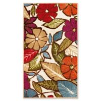 Modern Living Flowers 1-Foot 6-Inch x 2-Foot 6-Inch Accent Rug