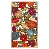 Modern Living Flowers 2-Foot 2-Inch x 3-Foot 9-Inch Accent Rug