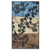 Modern Living 18-Inch x 2-Foot 6-Inch Tulips Textured Accent Rug in Blue/Brown