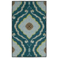 Modern Living 18-Inch x 2-Foot 6-Inch Julianna Textured Accent Rug in Blue/Brown