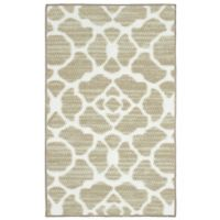 Kohl Structures 1-Foot 6-Inch x 2-Foot 6-Inch Accent Rug in Beige/White
