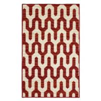Mila Structures 1-Foot 6-Inch x 2-Foot 6-Inch Accent Rug in Red/Beige