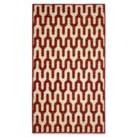 Mila Structures 2-Foot 2-Inch x 3-Foot 9-Inch Accent Rug in Red/Beige