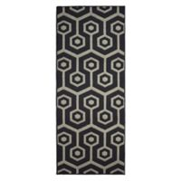 Jean Pierre Honeycomb 2-Foot 4-Inch x 5-Foot Runner in Dark Grey