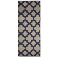 Alessandra 2-Foot x 5-Foot Accent Rug in Linen/Navy
