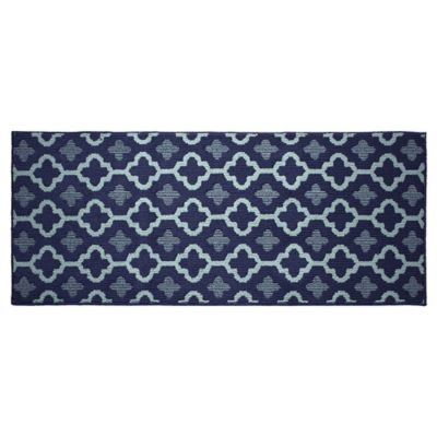 Jean Pierre Yapi 2 Foot X 5 Foot Runner Rug In Navy/Blue