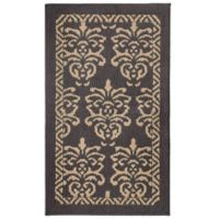 Jean Pierre Bayonne Loop 1-Foot 8-Inch x 2-Foot 19-Inch Accent Rug in Dark Grey/Linen