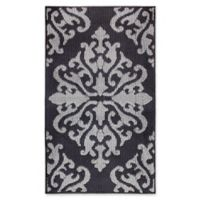 Jean Pierre Cole Loop 2-Foot 2-Inch x 4-Foot Accent Rug in Black/Grey