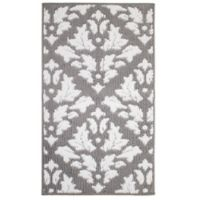 Jean Pierre Mira Loop 1-Foot 8-Inch x 2-Foot 10-Inch Accent Rug in Grey/Soft White