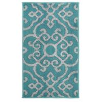 Jean Pierre Nevio 1-Foot 8-Inch x 2-Foot 10-Inch Rug in Blue Lagoon/Grey