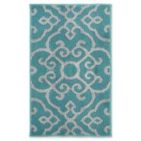 Jean Pierre Nevio 2-Foot x 3-Foot 4-Inch Runner in Blue Lagoon/Grey