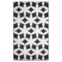 Jean Pierre Geo Flower 2-Foot x 3-Foot Accent Rug in Grey/Ivory