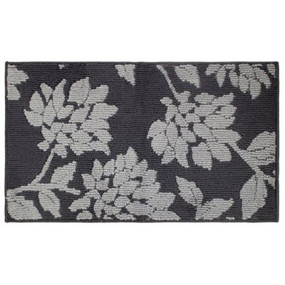 melly 2foot x 5foot loop accent rug in grey