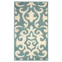 Jean Pierre Phelomena 1-Foot 8-Inch x 2-Foot 10-Inch Berber Rug in Mineral Blue/Ivory