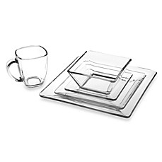 Libbey® Tempo Square Glass Dinnerware - Bed Bath & Beyond