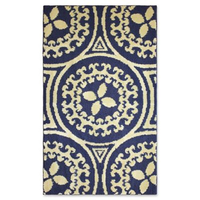 Jean Pierre Mimosa 2 Foot X 3 Foot Accent Rug In Navy/Berber