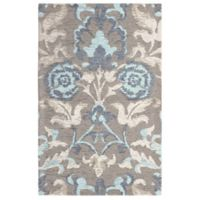 Laura Ashley® Penelope Floral Jacquard 2-Foot 3-Inch x 3-Foot 9-Inch Accent Rug in Blue