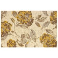 Laura Ashley 2-Foot x 2-Foot 11-Inch Hydrangea Accent Rug in Yellow