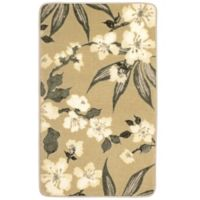 Laura Ashley Madeline 20-Inch x 34-Inch Memory Foam Accent Rug in Taupe