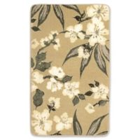 Laura Ashley Madeline 27-Inch x 45-Inch Memory Foam Accent Rug in Taupe