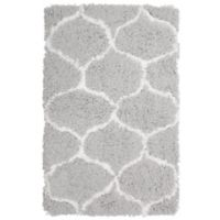 Vista Living Alfred Chunky Shag 2-Foot x 3-Foot Accent Rug in White/Grey