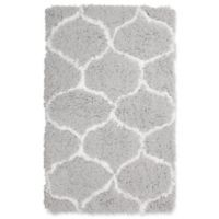 Vista Living Alfred Chunky Shag 2-Foot 3-Inch x 3-Foot 9-Inch Accent Rug in White/Grey