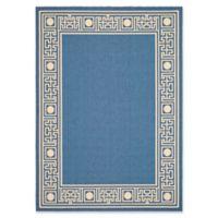 Safavieh Courtyard Border 5-Foot 3-Inch x 7-Foot 7-Inch Indoor/Outdoor Area Rug in Blue