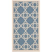 Safavieh Courtyard Track 2-Foot x 3-Foot 7-Inch Indoor/Outdoor Accent Rug in Blue