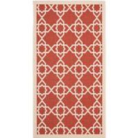 Safavieh Courtyard Track 2-Foot 7-Inch x 5-Foot Indoor/Outdoor Accent Rug in Red
