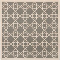 Safavieh Courtyard Track 6-Foot 7-Inch Square Indoor/Outdoor Area Rug in Grey