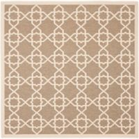 Safavieh Courtyard Track 6-Foot 7-Inch Square Indoor/Outdoor Area Rug in Brown