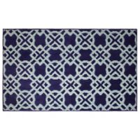 CL Tazo 2-Foot 4-Inch x 4-Foot Accent Rug in Navy/Mineral Blue